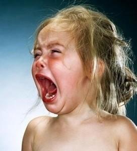 an unhappy babygirl