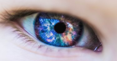 making eye contact with a galaxy in the iris
