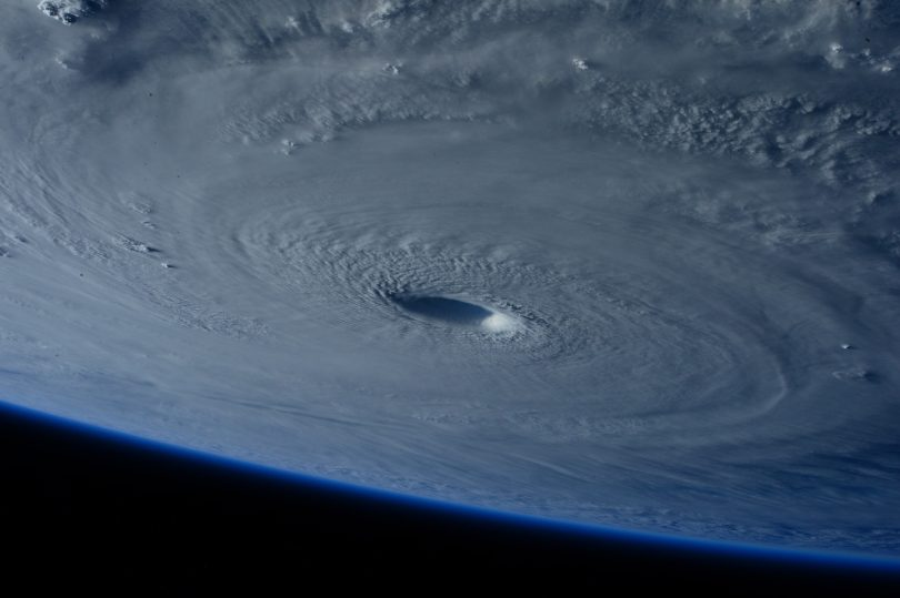 picture of hurricane from space