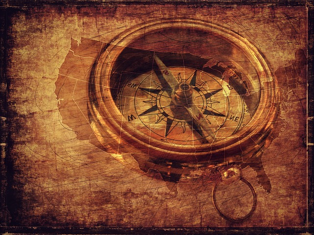 maps and a compass