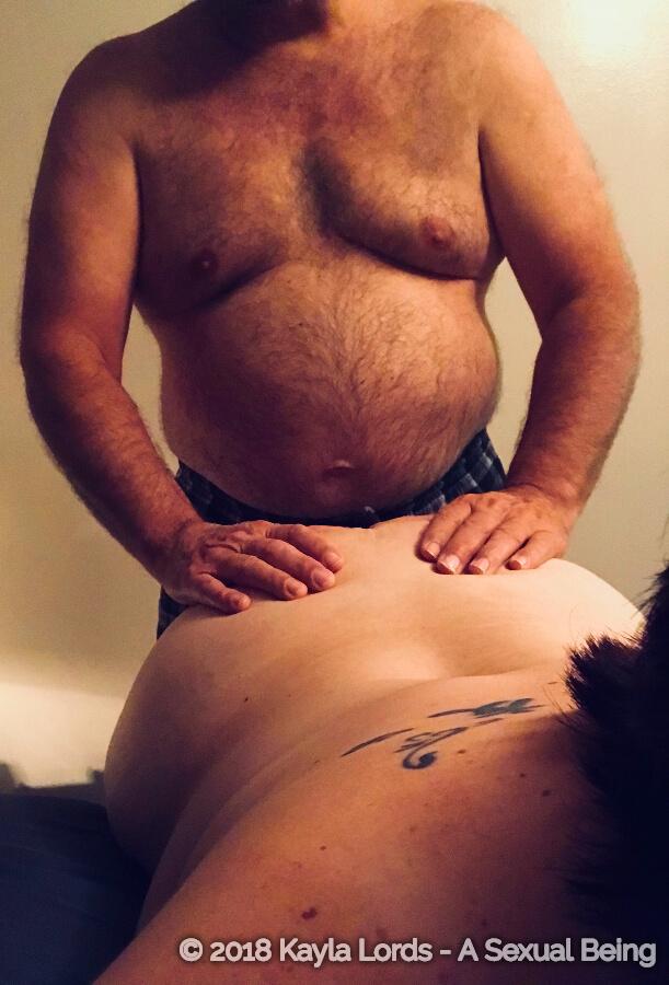 John Brownstone's hands on Kayla Lords butt