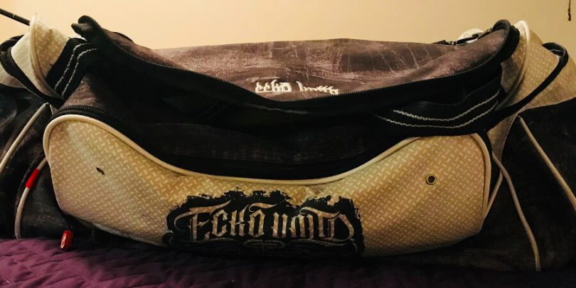a bag that holds kinky sex toys known as a toy bag