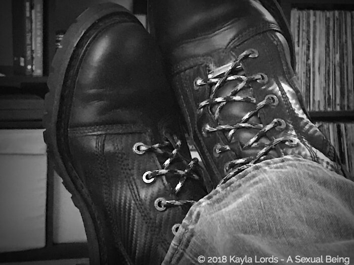 John Brownstone wearing his boots