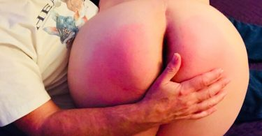 John Brownstone's hand across Kayla Lords ass after her wank and then spanking