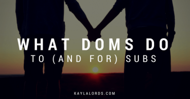 couple holding hands and post on what doms do to subs and for them