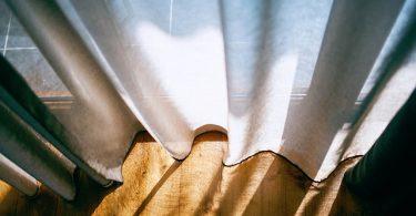 sunshine through the curtains