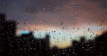 dark, rainy window