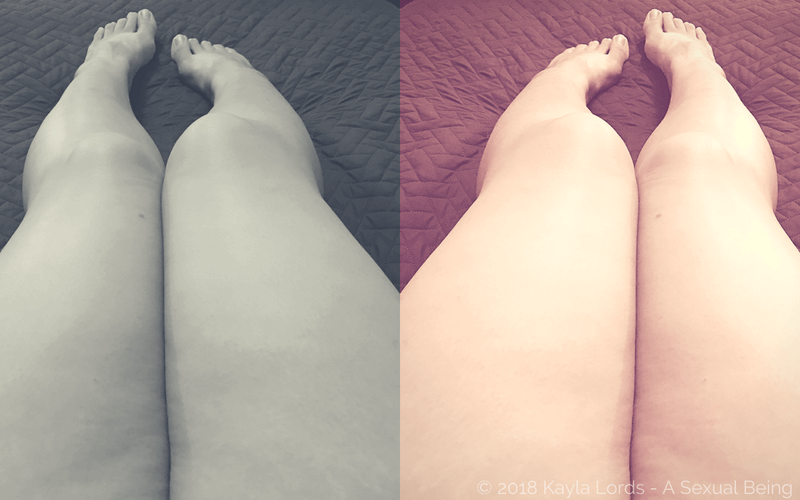 my thick thighs edited in a diptych image
