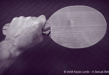wooden paddle made by John Brownstone that creates a loud sound and a lot of heat