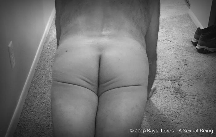 John Brownstone's naked butt