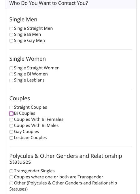screenshot of Swingtown registration contact options