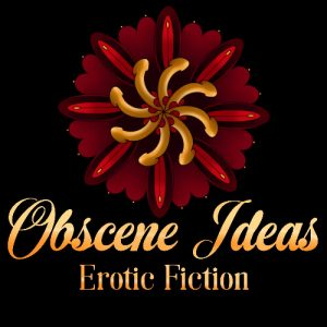 blog meme badge for Obscene Ideas 31 Days of Erotic Fiction - image is red and goal genital mandala