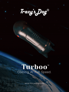 promo image for Turboo in same with image of earth in the background. Text says Tracy's Dog Turboo Coming at Full Speed tracysdog.com