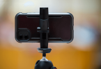 image of smartphone on a tripod as prompt for story
